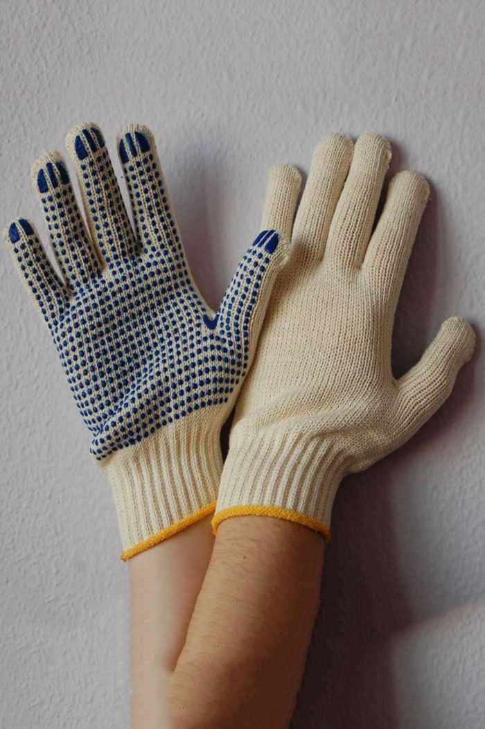 Перчатки «Практик» с ПВХ-точка