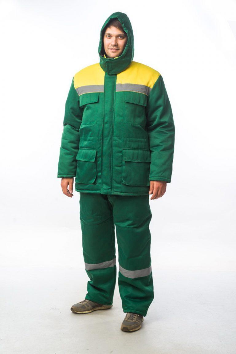 """Костюм """"Бу-2 М+"""" зеленый/желтый"""