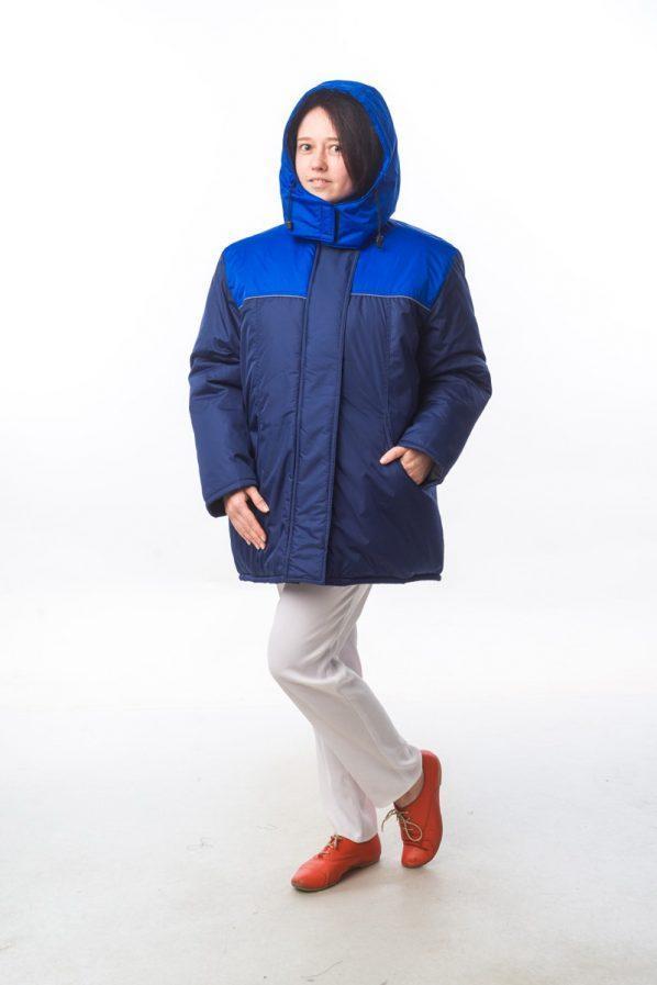 """Куртка """"Снежинка-1 М+"""" т.синий/василек"""