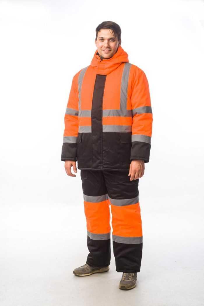 Костюм сигнальный зимний-1 М+ оранж/черн